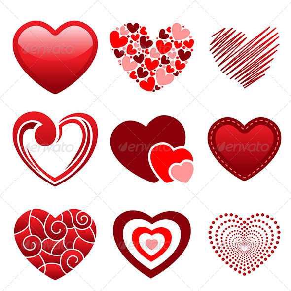 GraphicRiver Heart Icons 6442677