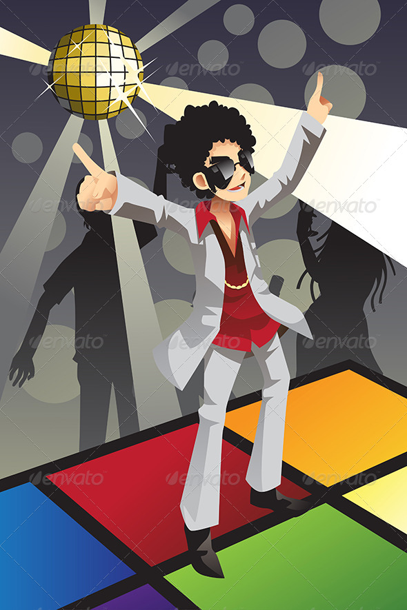 GraphicRiver Disco Man 6442784