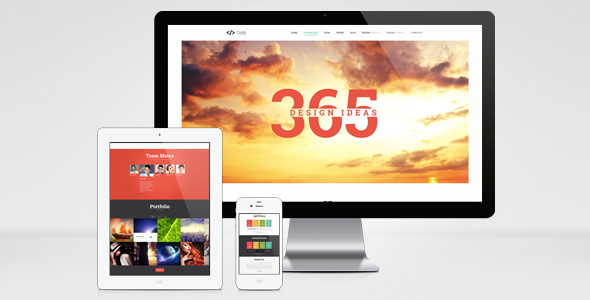 Cody - Creative onepage layout psd template