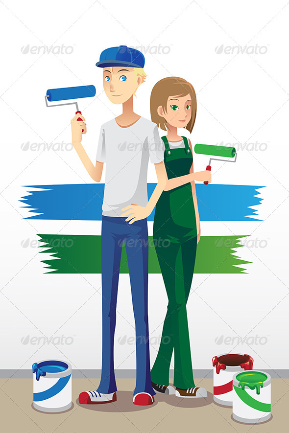 GraphicRiver Painting Couple 6443568