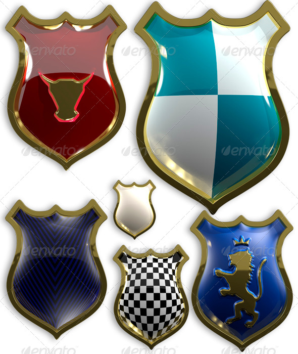 GraphicRiver Set of Shields 6443571