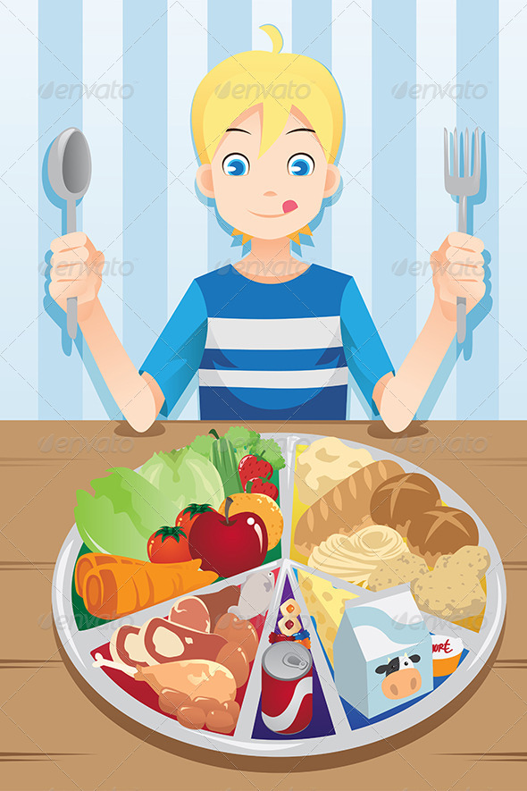 GraphicRiver Eating Boy 6443577
