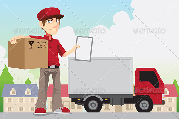 GraphicRiver Delivery Person 6443595