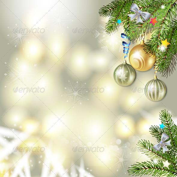 GraphicRiver Christmas Balls and Pine Tree 6443640