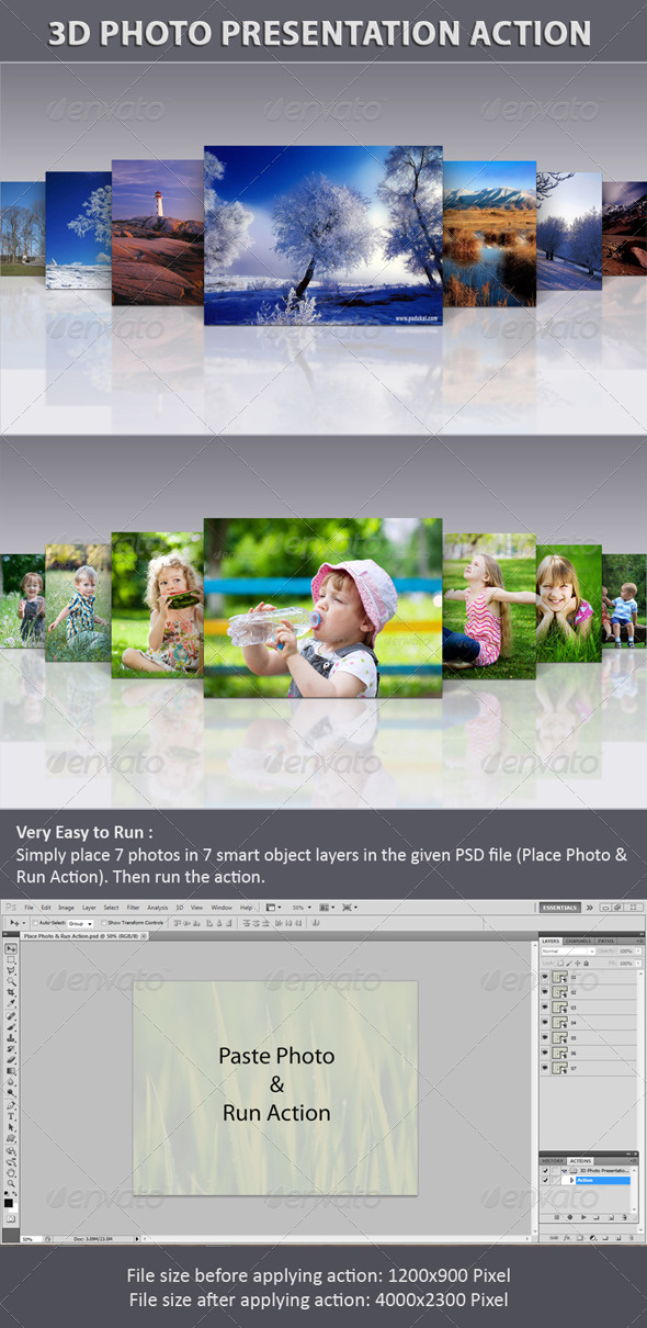 GraphicRiver 3D Photo Presentation Action 6444274