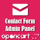 Opencart contact form to admin panel