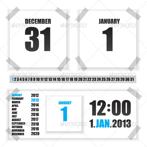 GraphicRiver Calendar Paper Illustration 6444338