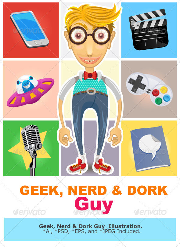GraphicRiver Type of Nerd Geek Dork Guy 6444355