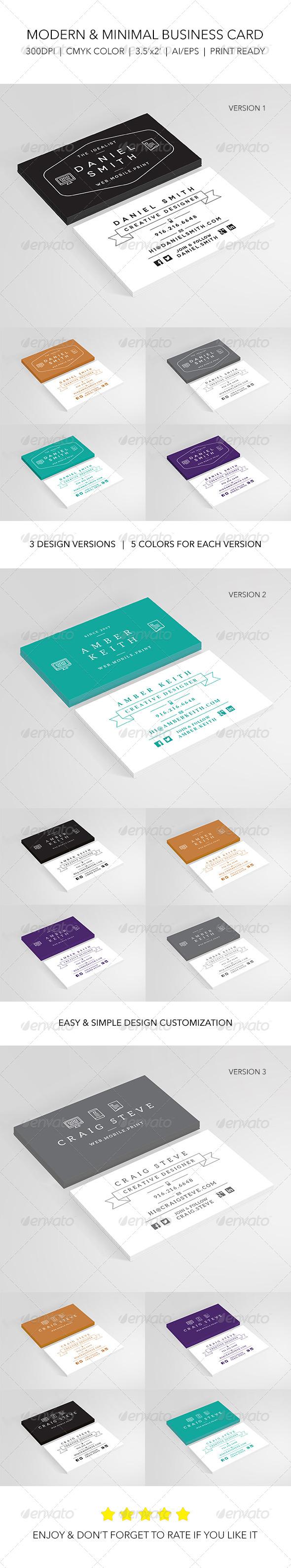 GraphicRiver Modern & Minimal Designer Business Card 6420487