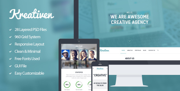 Kreativen PSD Template - Creative PSD Templates