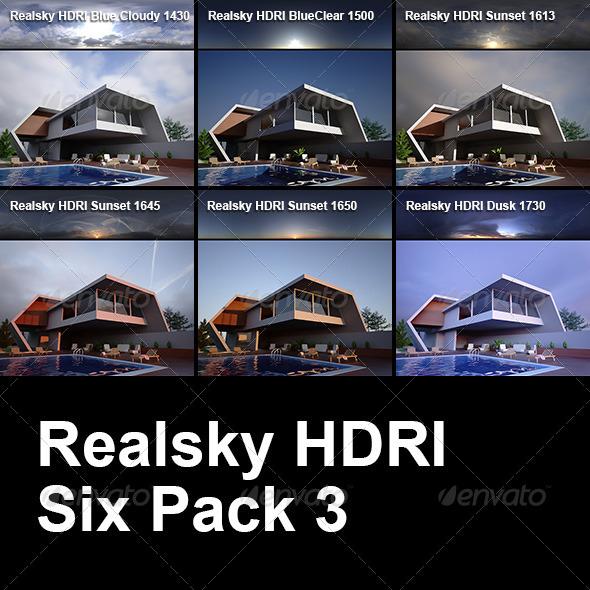 3DOcean Realsky HDRI Six Pack 3 6444915