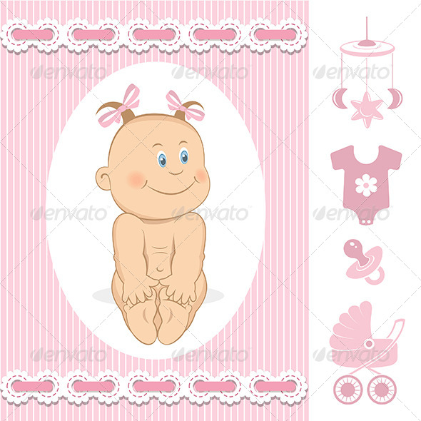 GraphicRiver Baby Girl 6444977