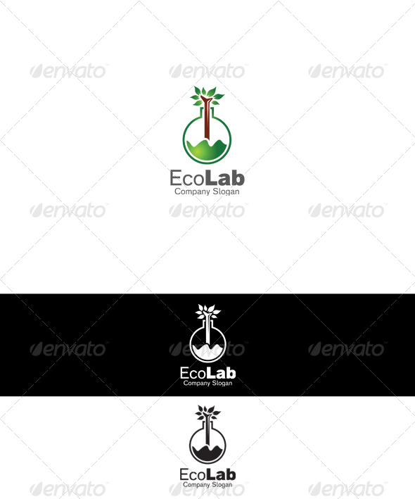 GraphicRiver Eco Lab Logo 6445070