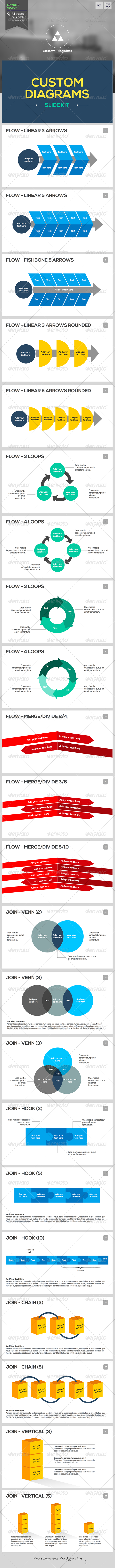 GraphicRiver Custom Diagrams Keynote Template 6445342