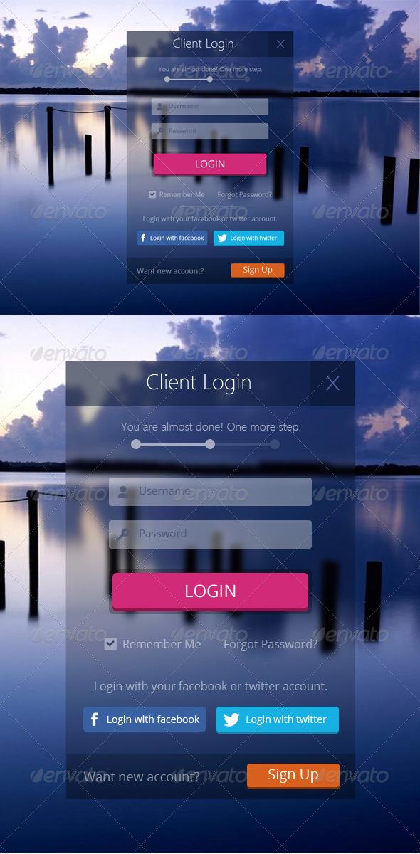 GraphicRiver Client Login Form 6436365