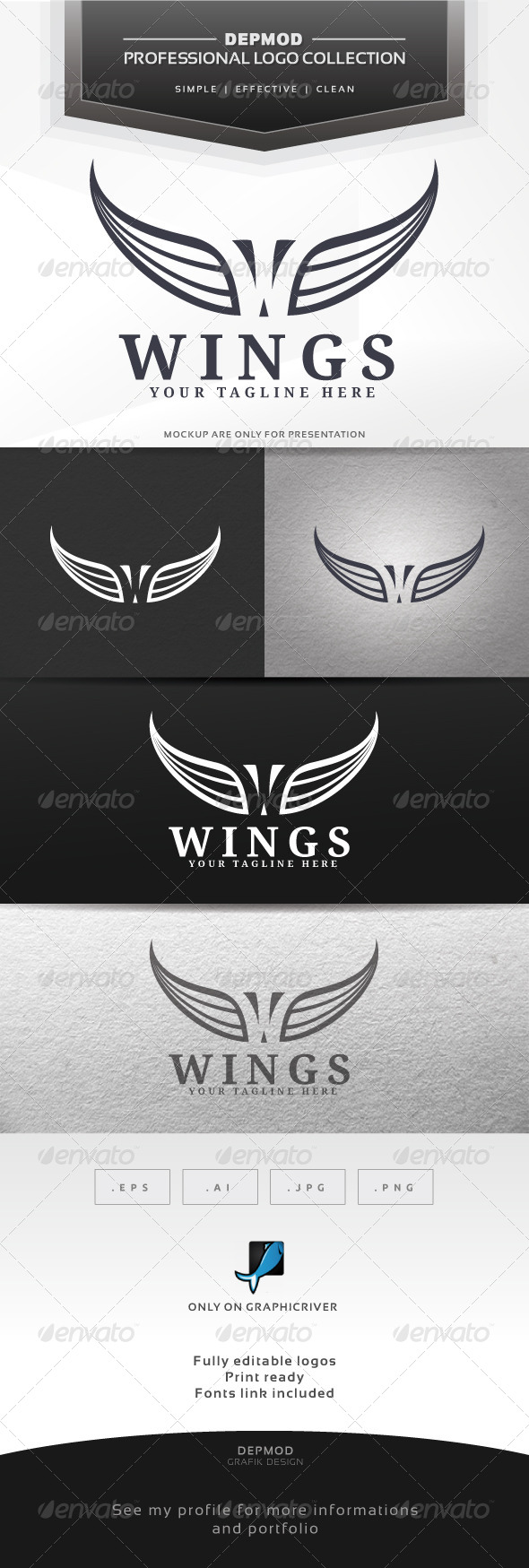 GraphicRiver Wings Logo 6445350