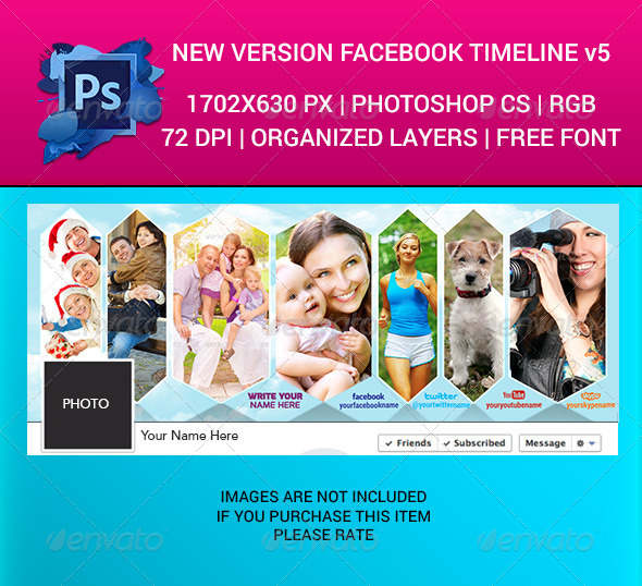 GraphicRiver Facebook Timeline Cover v5 6445356