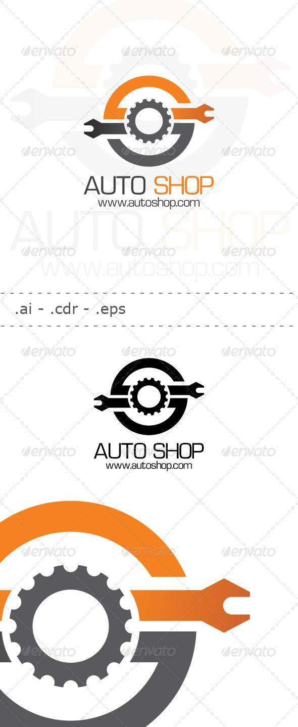 GraphicRiver Auto Shop Logo 6445362