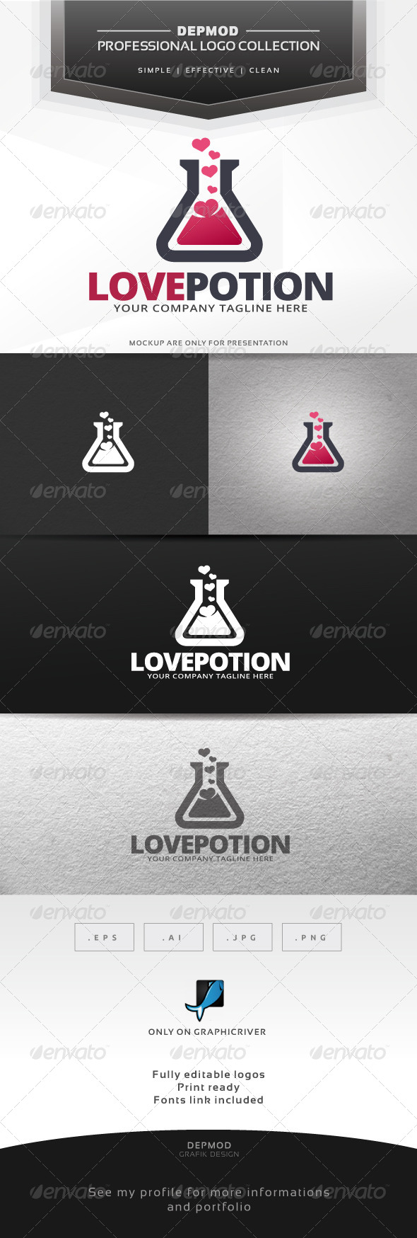 GraphicRiver Love Potion Logo 6445368