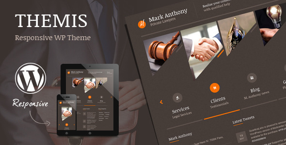Themis - Responsive Law Business WordPress Theme Download