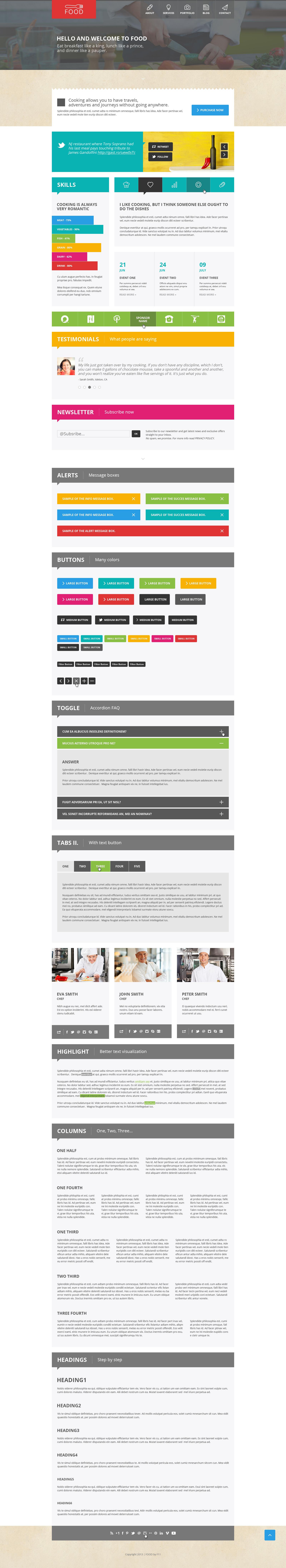 Food - Food & Restaurant PSD Single Page - Food - Food & Restaurant PSD Single Page.  Shortcodes.