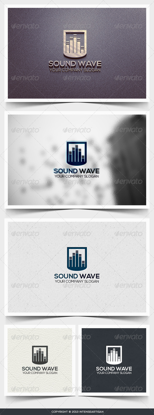 GraphicRiver Sound Wave Logo Template 6445570