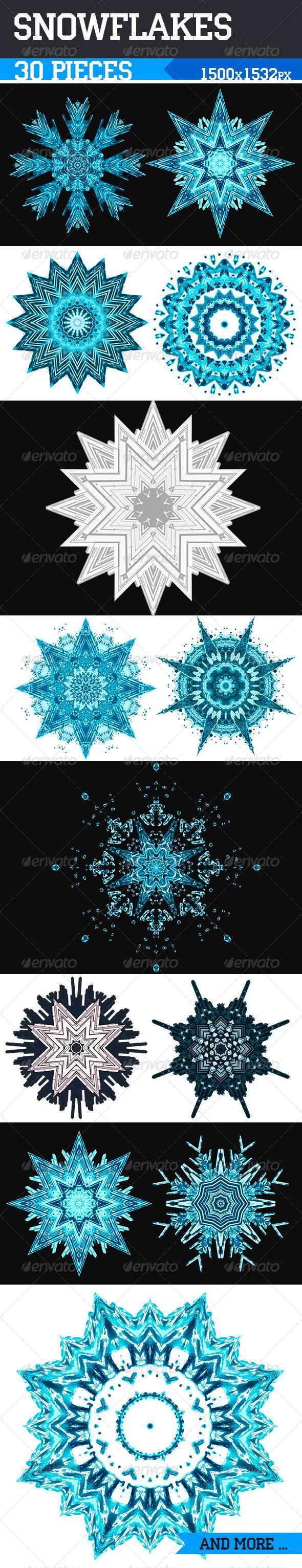 GraphicRiver Snowflakes 6433110