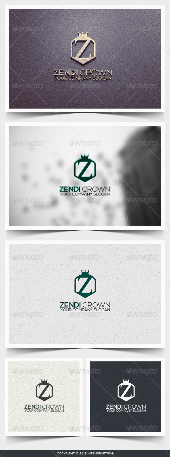 Zendi Crown Logo Template - Letters Logo Templates