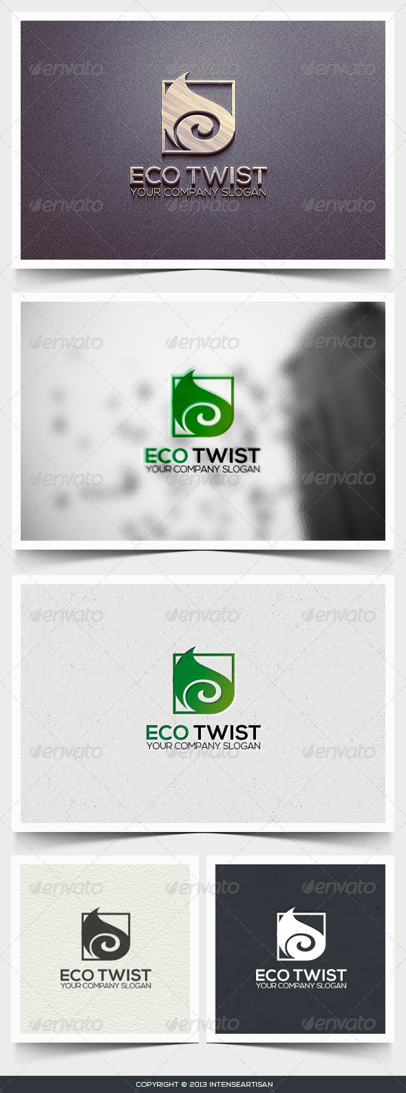Eco Twist Logo Template - Nature Logo Templates