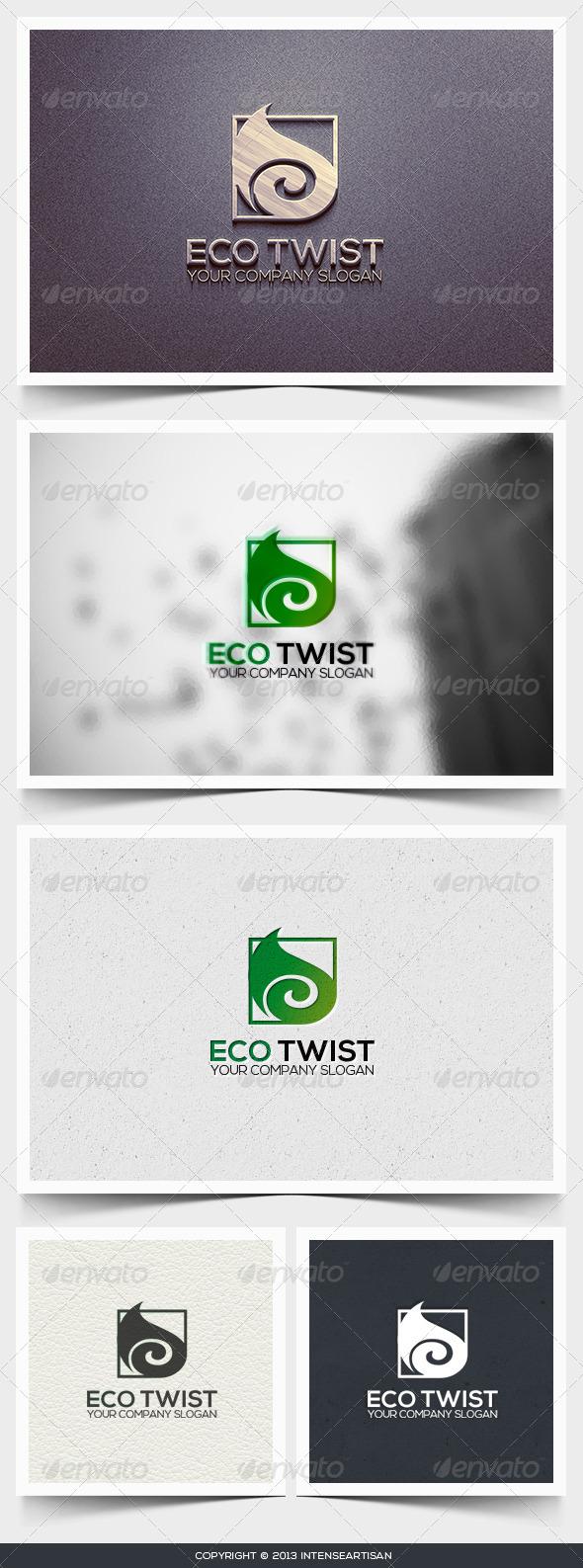 GraphicRiver Eco Twist Logo Template 6445697