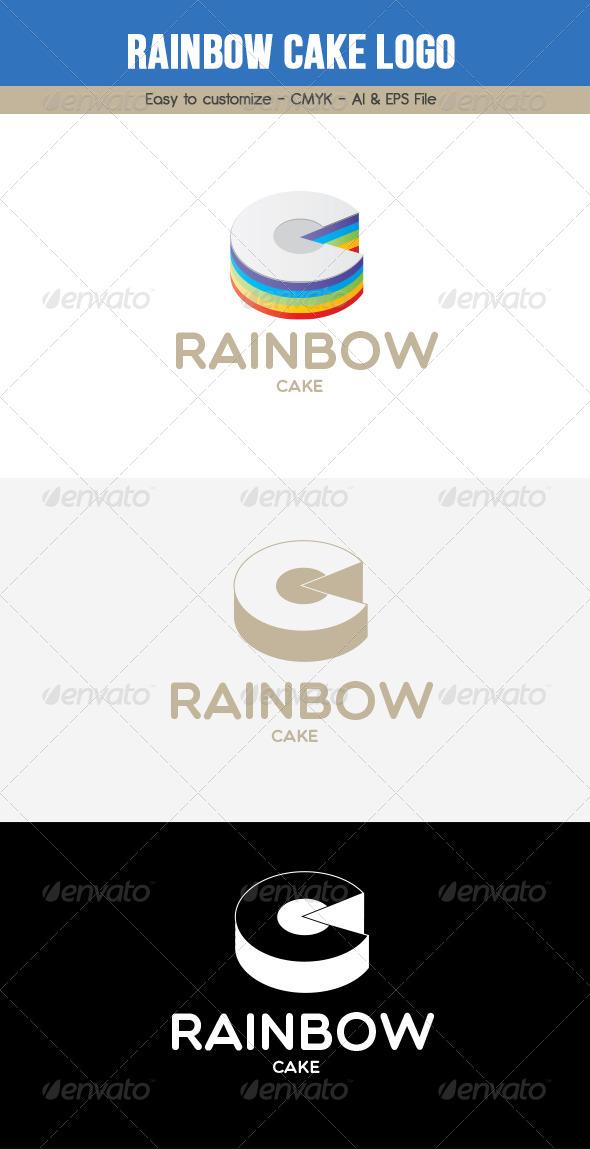 GraphicRiver Rainbow Cake Logo 6445097