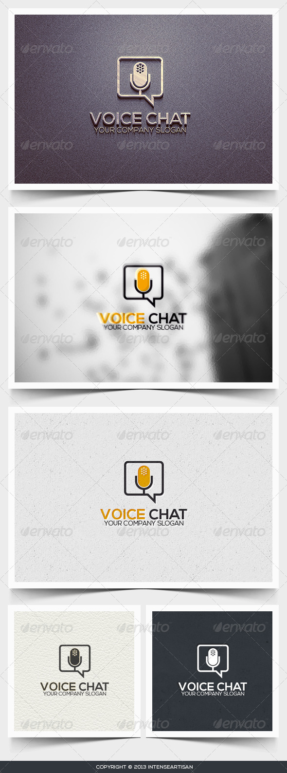 GraphicRiver Voice Chat Logo Template 6445795