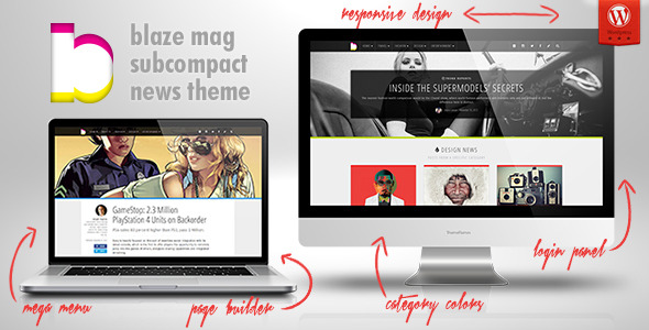 Blaze Mag: Subcompact Magazine / News WP Theme