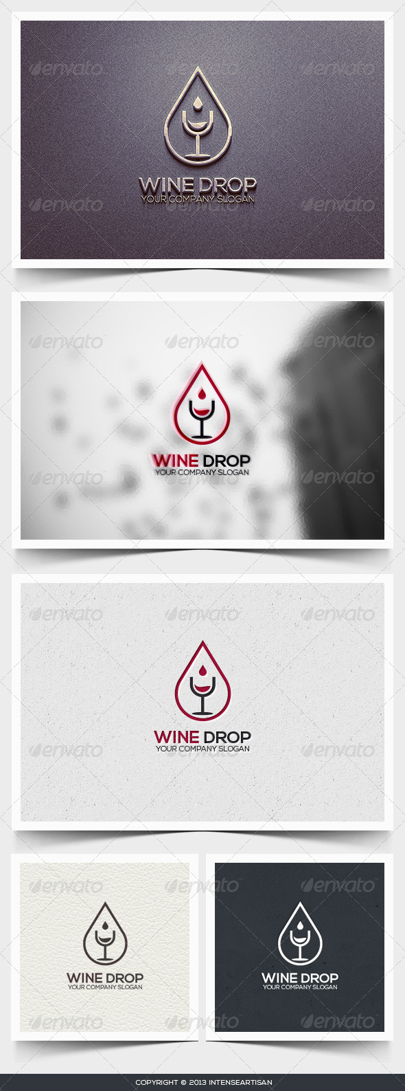 GraphicRiver Wine Drop Logo Template 6445886