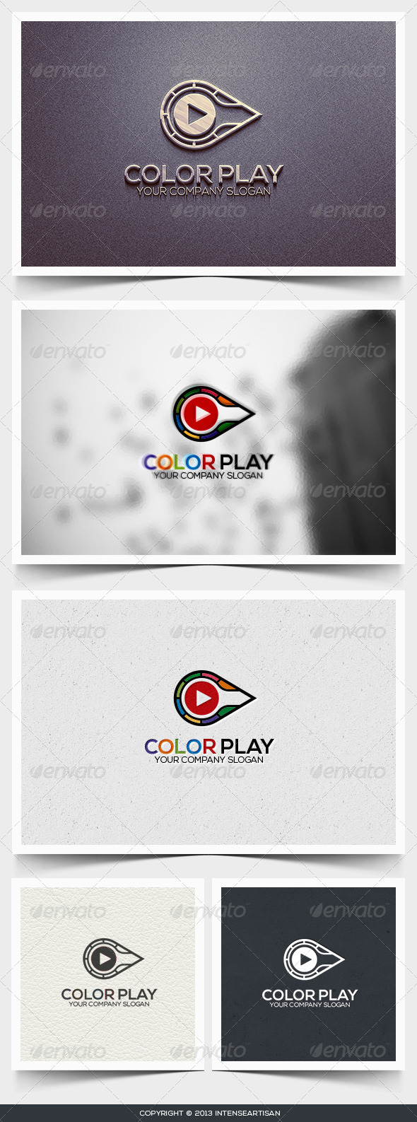 GraphicRiver Color Play Logo Template 6445897