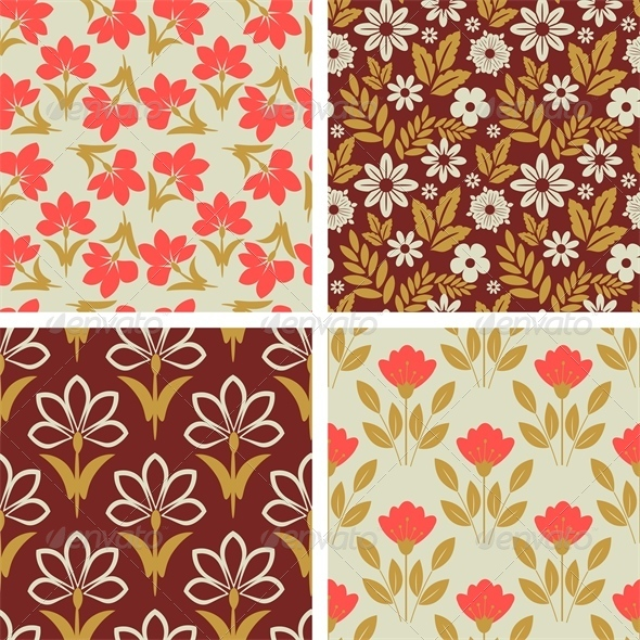 GraphicRiver Floral Patterns 6445989