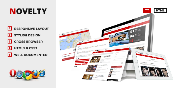 ThemeForest Novelty Content Sharing HTML Theme 6445991