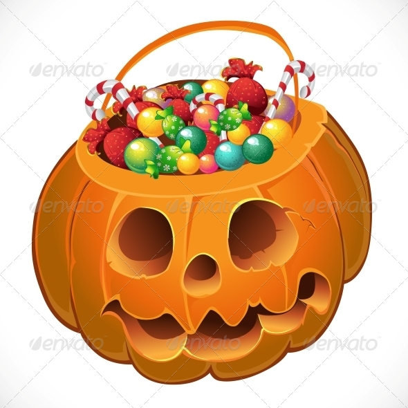GraphicRiver Pumpkin with a Candy 6446049