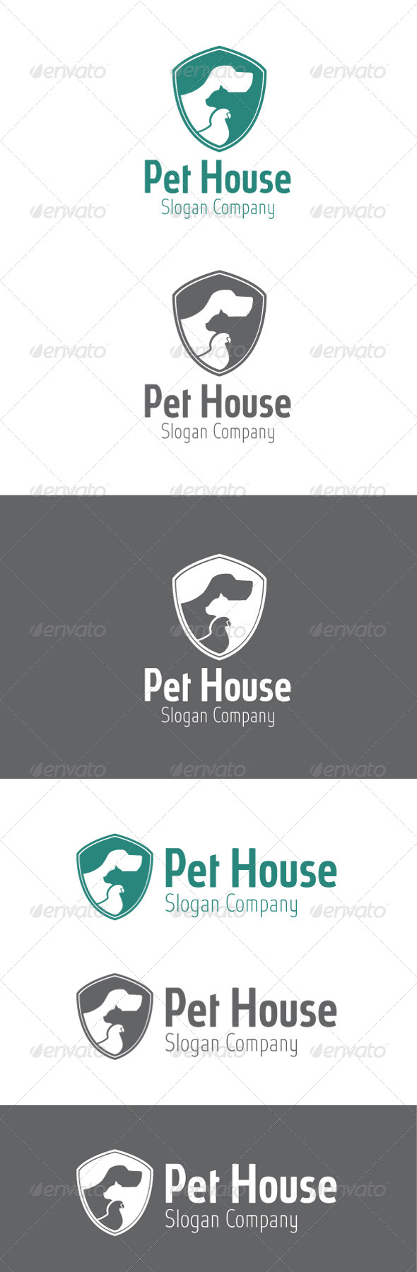 GraphicRiver Pet House Logo 6446198