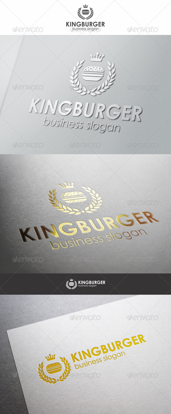 King Burger Royal Food Logo - Food Logo Templates