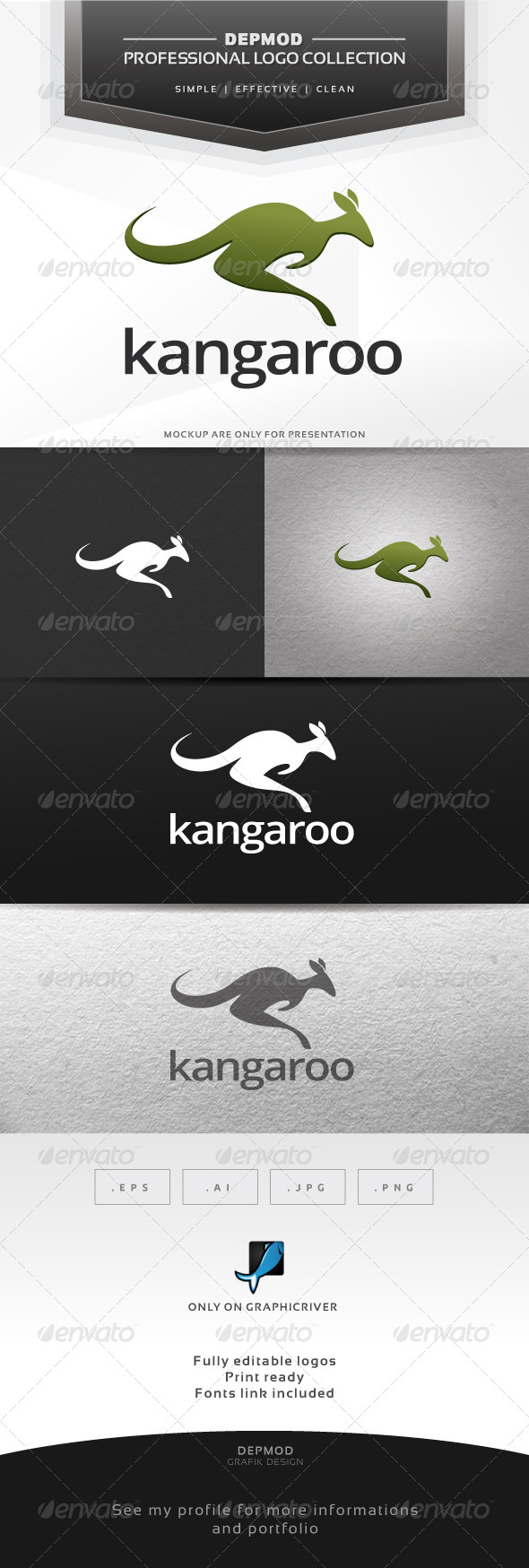 GraphicRiver Kangaroo Logo 6446204