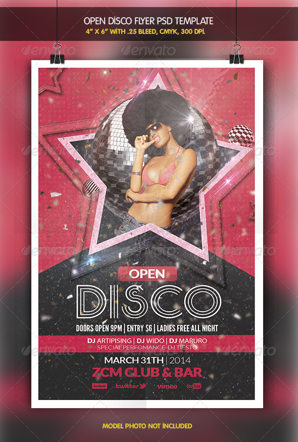 GraphicRiver Open Disco Party Flyer 6418969