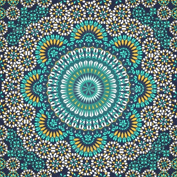 GraphicRiver Seamless Pattern in Mosaic Ethnic Style 6446490