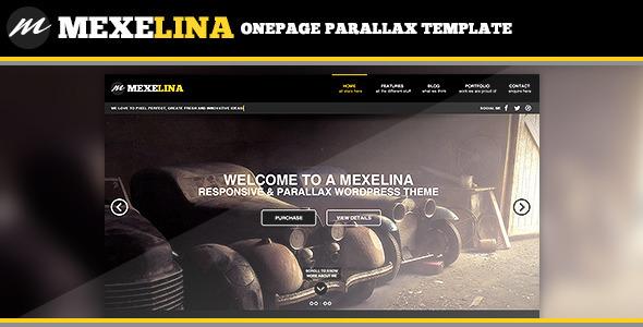 Mexelina - Onepage Parallax Template - Portfolio Creative