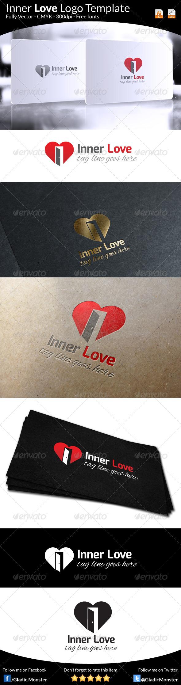 Inner Love Logo Template - Symbols Logo Templates