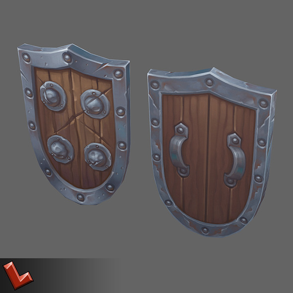 3DOcean Low poly hand painted shield [Militia 05] 6446564