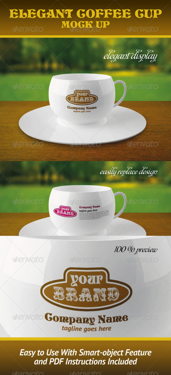 GraphicRiver Elegant Coffee Cup Mock-up 673658