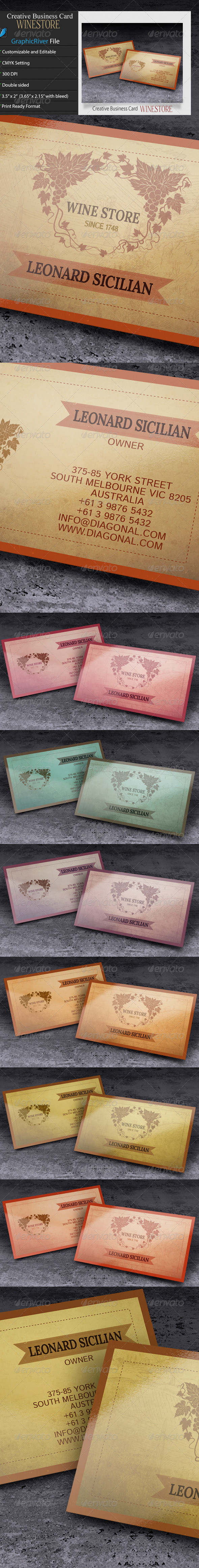 GraphicRiver Creative Business Card WineStore 6402893