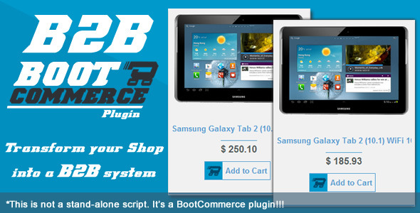 B2B WHOLESALE RESELLER Plugin For BootCommerce