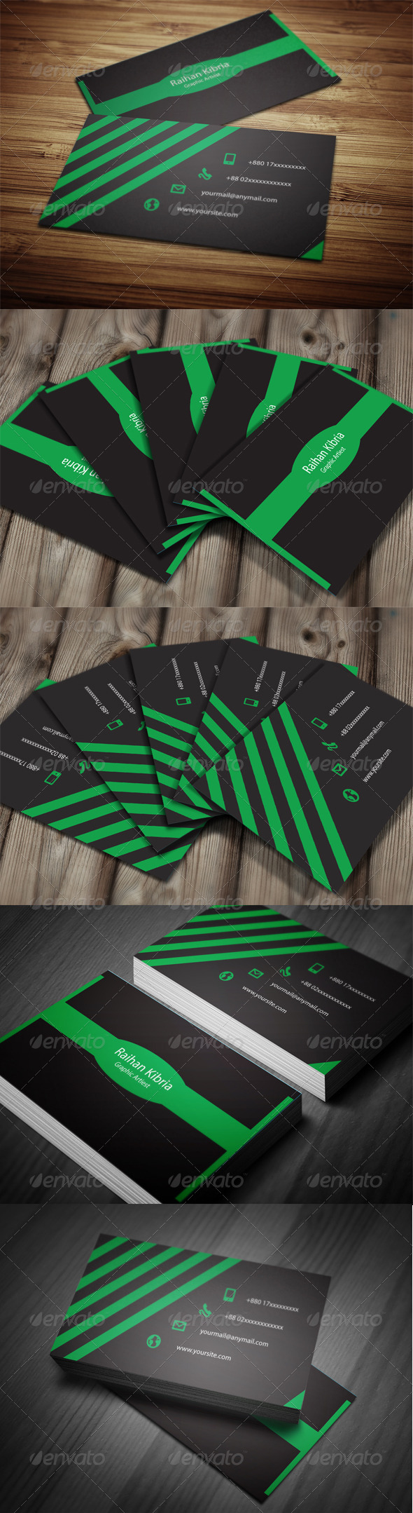 GraphicRiver Colorful business card 6284149